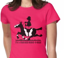 Coloured Horse-o-holic Womens Fitted T-Shirt