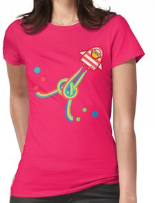 Owl in space Womens Fitted T-Shirt