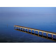 Wooden Pier Reflected in Water Photographic Print