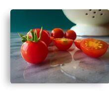 Fallen Cherry Tomatoes Canvas Print