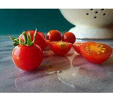 Fallen Cherry Tomatoes Photographic Print