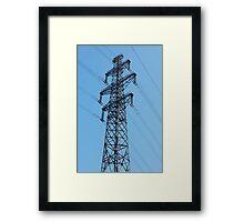 High Voltage Tower Framed Print