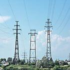 electricity pylon power line by mrivserg