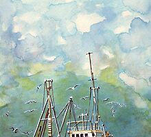 Storm Brewing in Fishing Waters by Kate Eller