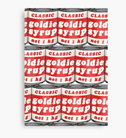 Goldie Syrup Card Canvas Print