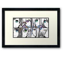 ToZ - Eyes Framed Print