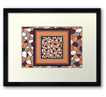 Harvest Stained Glass Framed Print