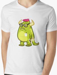 Monster Nerd Mens V-Neck T-Shirt