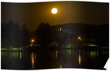 Moonrise over Narrabeen Lake by Doug Cliff