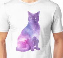 Space Cat Watercolor Unisex T-Shirt