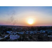 A Small Town Sunset Photographic Print