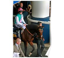 Frankel goes onto the course.  Poster