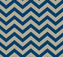 Bold Chevron Pattern 1 by Kat Massard