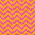 Bold Chevron Pattern 4 by Kat Massard