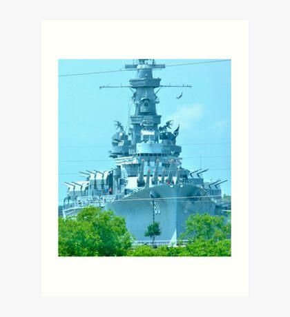 Battleship ALABAMA Art Print
