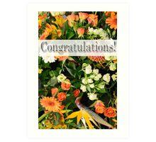 Congratulations! 1 Art Print