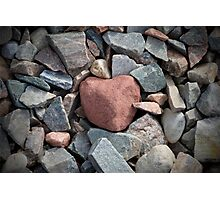 Red Stone Heart Photographic Print