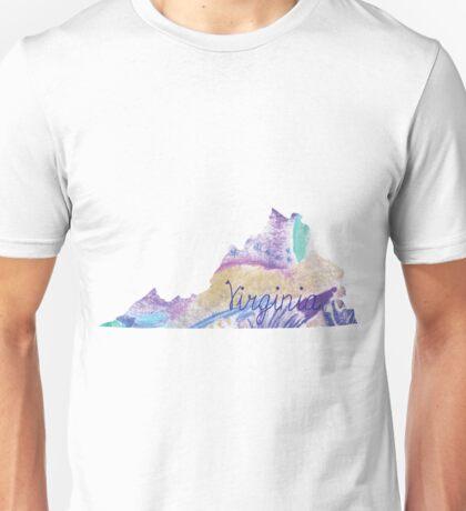 Virginia chalk purple Unisex T-Shirt