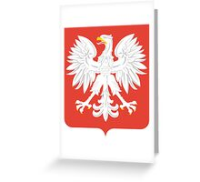 Coat of Arms of People's Republic of poland, 1945-1989 Greeting Card