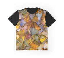 Fall Ginkgo Leaves Graphic T-Shirt