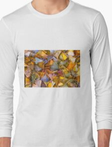 Fall Ginkgo Leaves Long Sleeve T-Shirt
