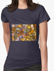 Fall Ginkgo Leaves Womens T-Shirt