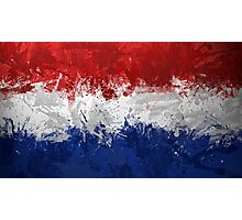 Netherlands Flag Photographic Print