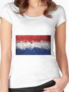 Netherlands Flag Women's Fitted Scoop T-Shirt