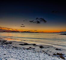 Camusdarach beach as the sun sets by EileenW