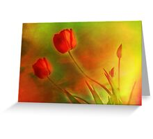 """Tulips (from """"Painted flowers"""" collection) Greeting Card"""