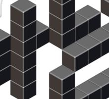 8-bit Annyeong! (Black Sticker) Sticker