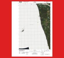 USGS Topo Map Washington State WA Destruction Island 20110418 TM One Piece - Short Sleeve