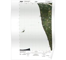 USGS Topo Map Washington State WA Destruction Island 20110418 TM Poster