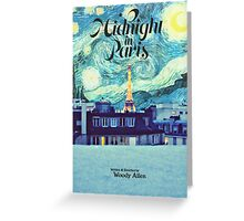 Midnight In Paris Poster Greeting Card
