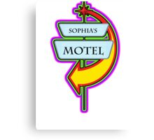 Sophia's Motel campy truck stop tee  Canvas Print