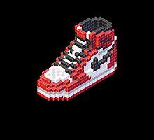 3D 8-bit Air Jordan 1 for iPhone 5 by 9thDesignRgmt