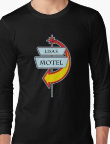 Lisa's Motel campy truck stop tee  Long Sleeve T-Shirt