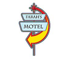 Farah's Motel campy truck stop tee  Photographic Print