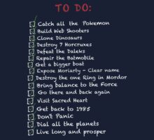 Busy 'to do' list alternate by MrSaxon