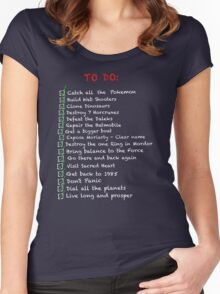 Busy 'to do' list alternate Women's Fitted Scoop T-Shirt
