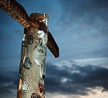 Totem pole by Eddie Nock