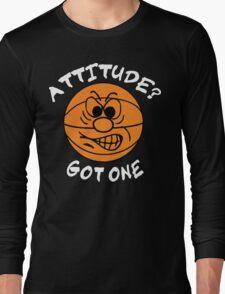 Basketball Attitude Dark Long Sleeve T-Shirt