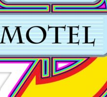 Pinky's Motel campy truck stop tee  Sticker