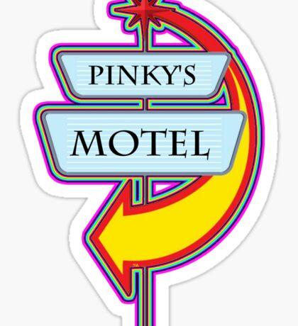 Pinky's Motel campy truck stop tee  Sticker