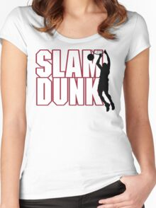 Basketball Slam Dunk Women's Fitted Scoop T-Shirt