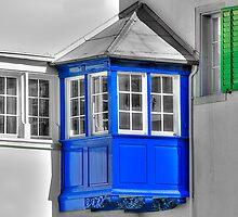 Blue balcony by Prasad