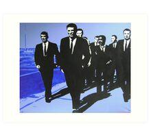 The Rat Pack - Blue Art Print