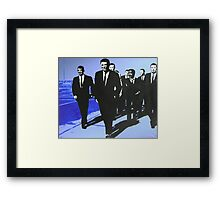 The Rat Pack - Blue Framed Print