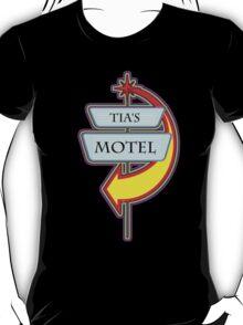 Tia's Motel campy truck stop tee  T-Shirt