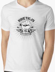 KineticJS Web Revolution Light Mens V-Neck T-Shirt